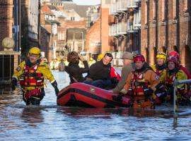 Flood rescue boats ©Shutterstock
